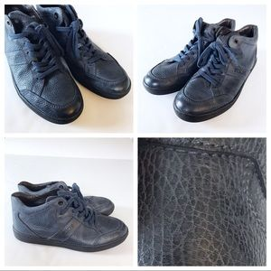 Tod's Shoes - WORN ONCE Tods HighTop Slate Blue Leather Sneakers